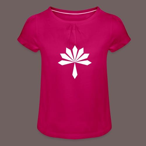 GBIGBO zjebeezjeboo - Rock - Fleur - T-shirt à fronces au col Fille