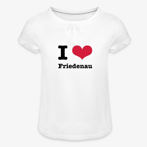 I love Friedenau - Mädchen-T-Shirt mit Raffungen