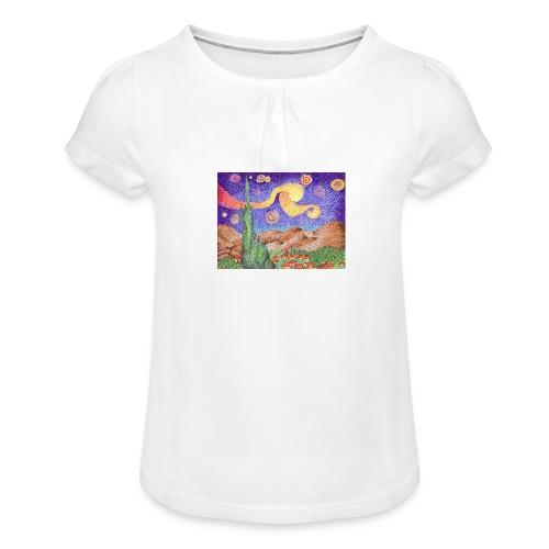 1 - Camiseta para niña con drapeado