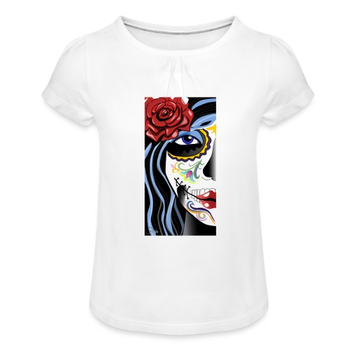 mex girl death - Girl's T-Shirt with Ruffles