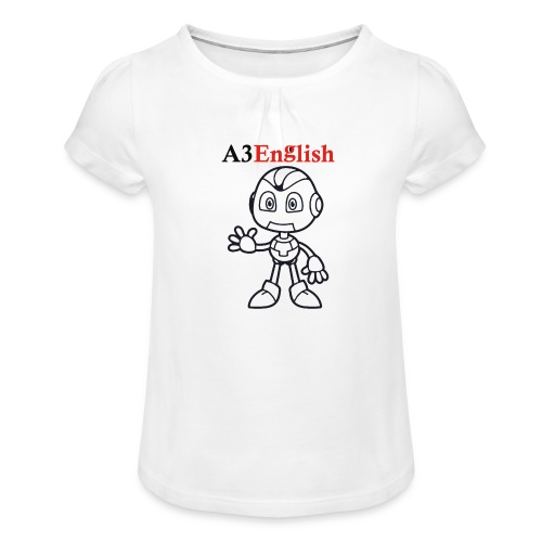 A3English Robot 51 - Girl's T-Shirt with Ruffles