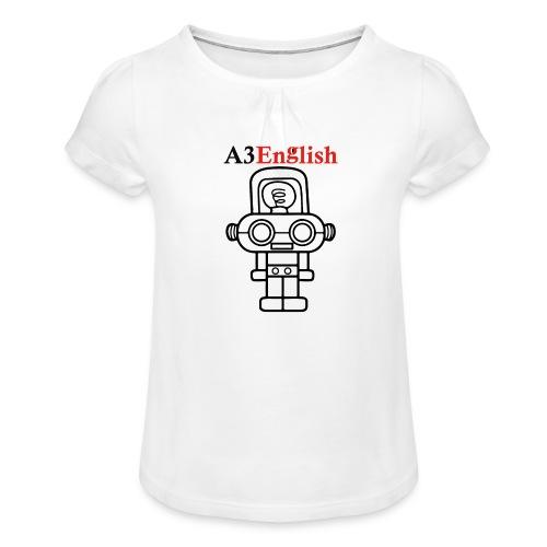 A3English Robot 66 - Girl's T-Shirt with Ruffles