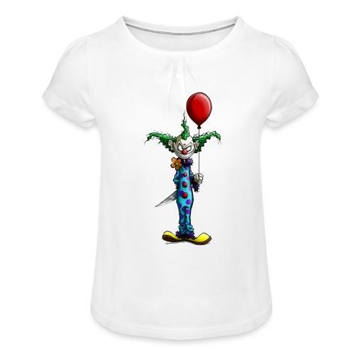 klaun tee - T-shirt med rynkning flicka