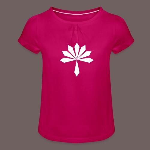 GBIGBO zjebeezjeboo - Rock - Fleur [FlexPrint] - T-shirt à fronces au col Fille