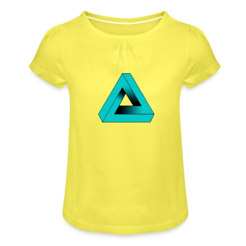 Impossible Triangle - Girl's T-Shirt with Ruffles