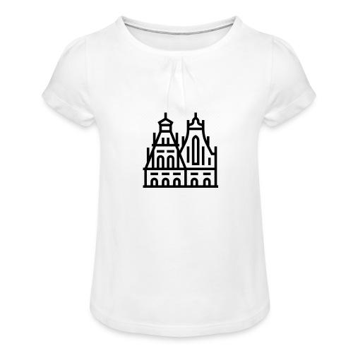 5769703 - Mädchen-T-Shirt mit Raffungen