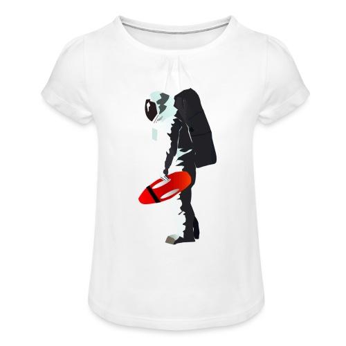 Space Lifeguard - Girl's T-Shirt with Ruffles