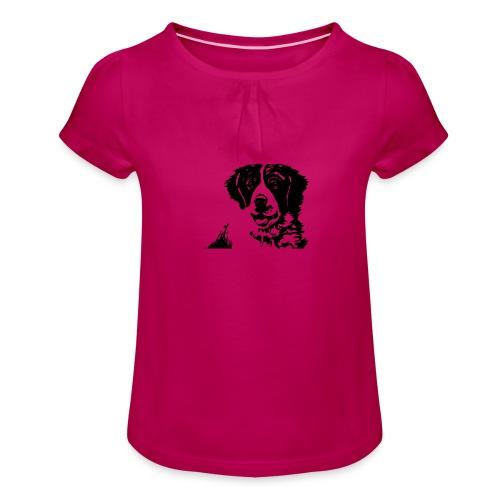Barry - St-Bernard dog - Mädchen-T-Shirt mit Raffungen