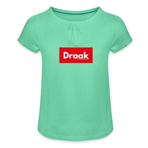 Draak League Spartan - Meisjes-T-shirt met plooien