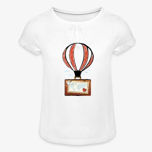 CUORE VIAGGIATORE Gadget per chi ama viaggiare - Maglietta da ragazza con arricciatura