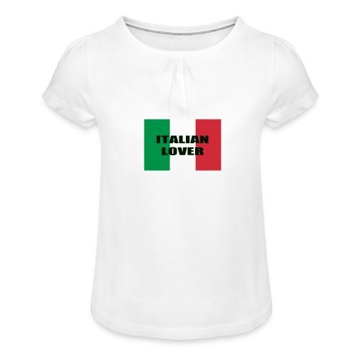 ITALIAN LOVER - Maglietta da ragazza con arricciatura