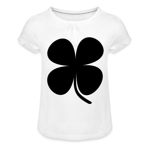 CLOVER - Camiseta para niña con drapeado