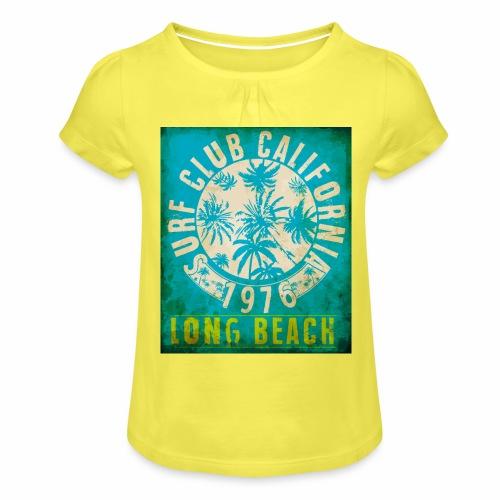 Long Beach Surf Club California 1976 Gift Idea - Girl's T-Shirt with Ruffles