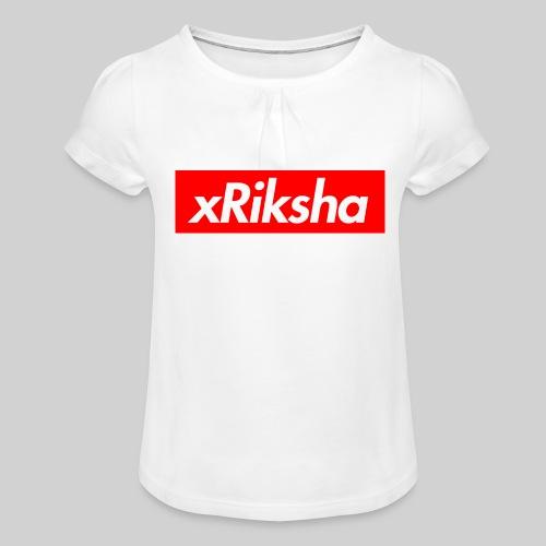 xRiksha - Box logo - Tyttöjen t-paita, jossa rypytyksiä