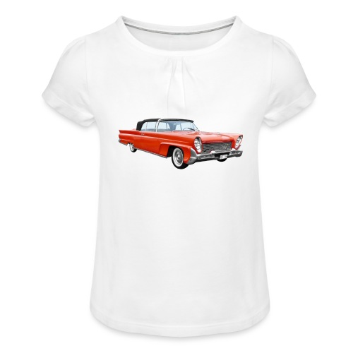 Red Classic Car - Meisjes-T-shirt met plooien
