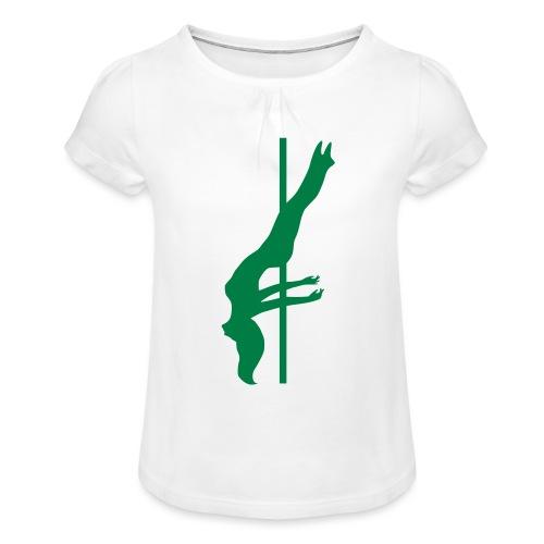Pole Dance - Maglietta da ragazza con arricciatura