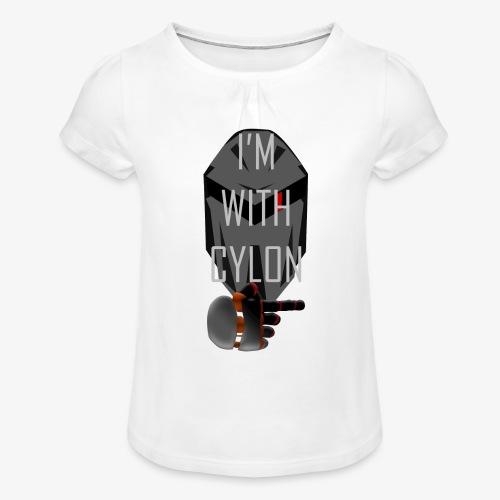 I'm with Cylon - Jente-T-skjorte med frynser