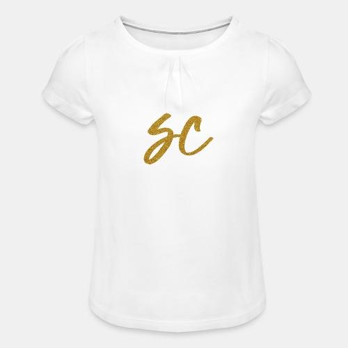 GOLD - Girl's T-Shirt with Ruffles