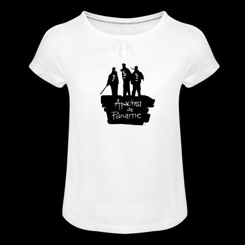 Apaches de Paname - T-shirt à fronces au col Fille