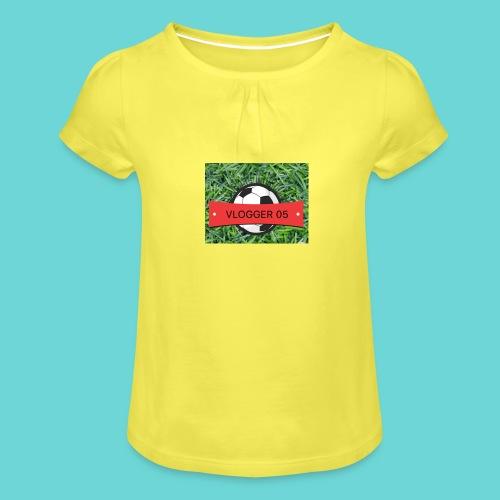 football shirt - Girl's T-Shirt with Ruffles