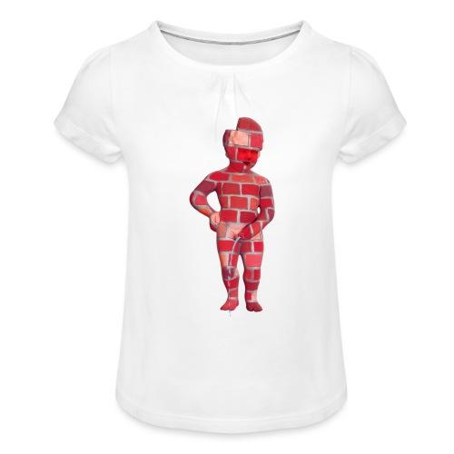 BRiCO ♀♂ | mannekenpis - T-shirt à fronces au col Fille