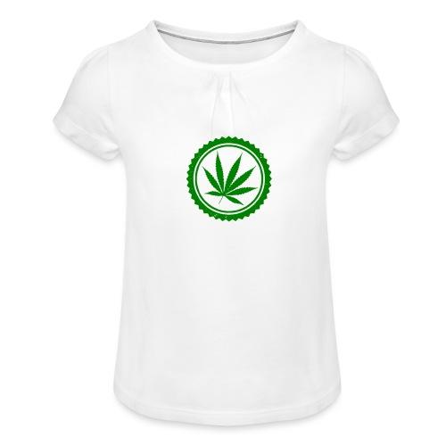Weed - Mädchen-T-Shirt mit Raffungen