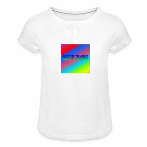 Mikkels Minecraft Navn - Pige T-shirt med flæser