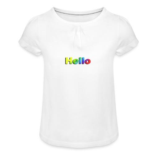 Hello - Koszulka dziewczęca z marszczeniami