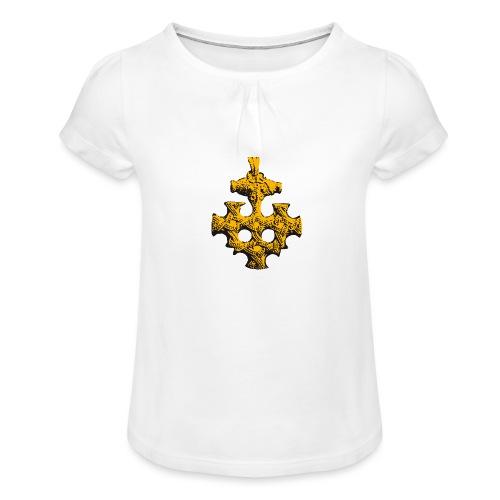 Goldschatz - Mädchen-T-Shirt mit Raffungen