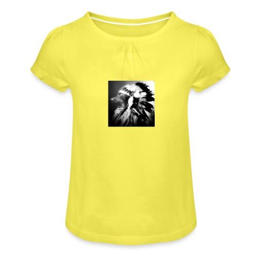 piniaindiana - Mädchen-T-Shirt mit Raffungen
