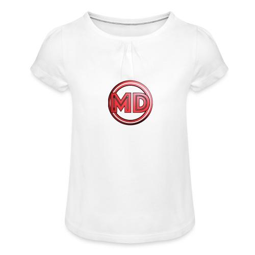 MDvidsTV logo - Meisjes-T-shirt met plooien