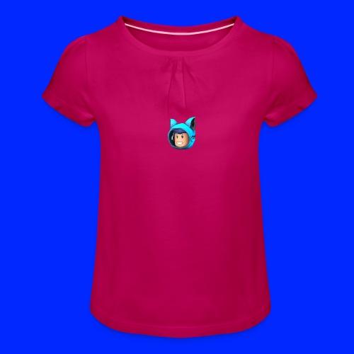 PuppyJam Roblox Logo - Meisjes-T-shirt met plooien