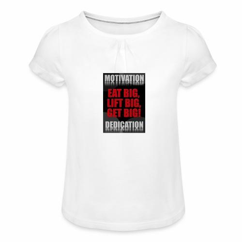 Motivation gym - T-shirt med rynkning flicka