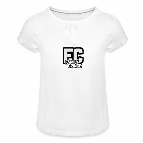 FAMILY CRINGE - T-shirt med rynkning flicka