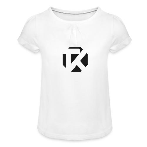 Logo TK Noir - T-shirt à fronces au col Fille