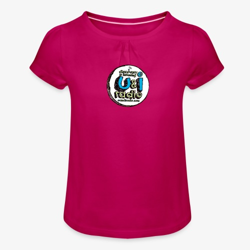 U & I Logo - Girl's T-Shirt with Ruffles