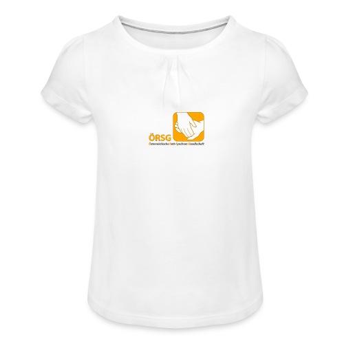Logo der ÖRSG - Rett Syndrom Österreich - Mädchen-T-Shirt mit Raffungen