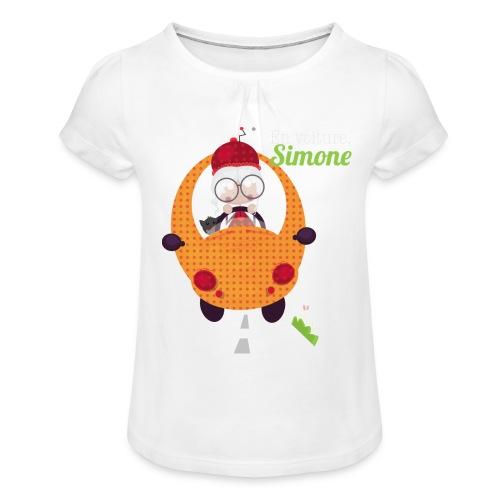 AUTOSIMONE - T-shirt à fronces au col Fille