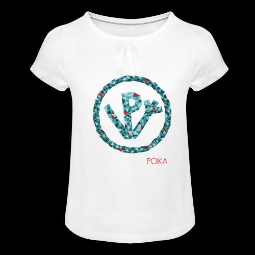 VP Mosaiikki - Tyttöjen t-paita, jossa rypytyksiä
