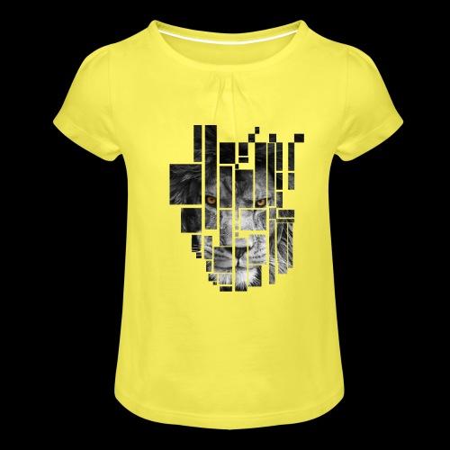 Pixel Lion Tattoo Inspire - Girl's T-Shirt with Ruffles
