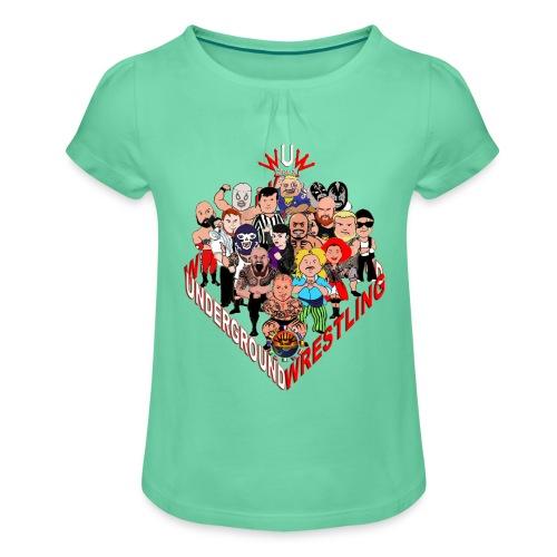 comics-wrestler - Mädchen-T-Shirt mit Raffungen