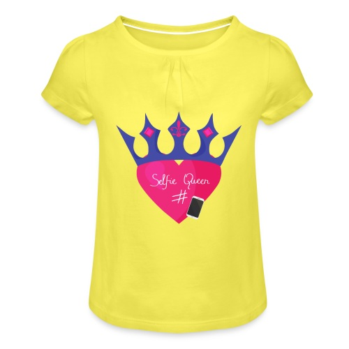 Humor Crown for real social media queens. - Girl's T-Shirt with Ruffles