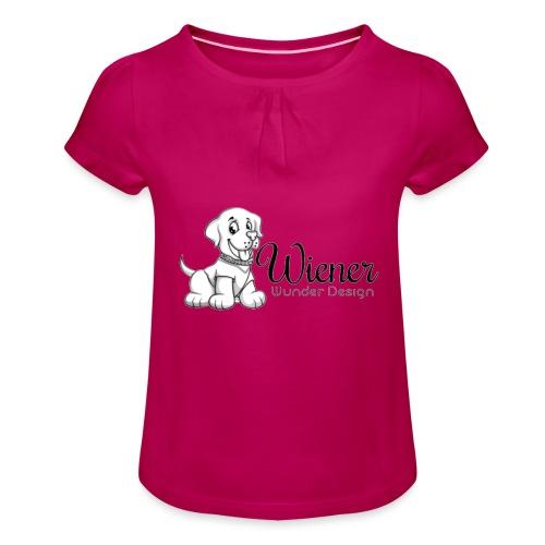 Wiener Wunder Hund - Mädchen-T-Shirt mit Raffungen