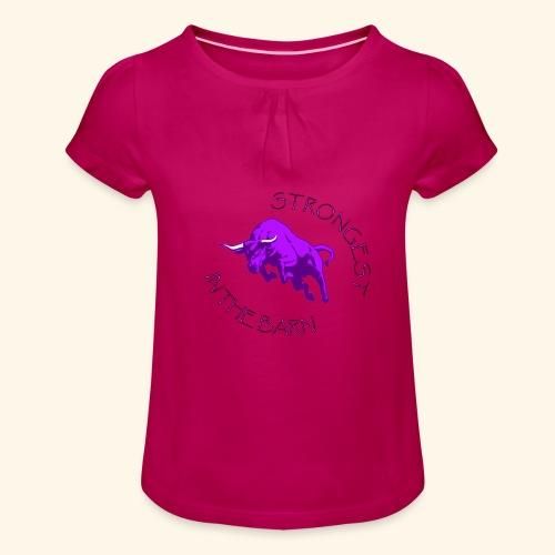 STRONGEST - Maglietta da ragazza con arricciatura