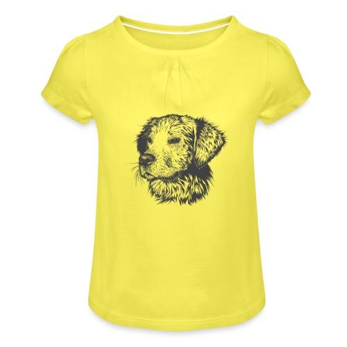koiran kuva - Tyttöjen t-paita, jossa rypytyksiä