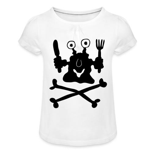 Koch - Mädchen-T-Shirt mit Raffungen