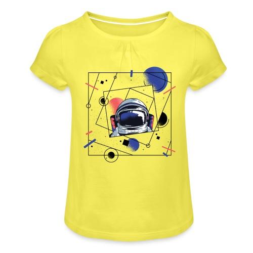Beste Astronaut Weltraum Designs - Mädchen-T-Shirt mit Raffungen