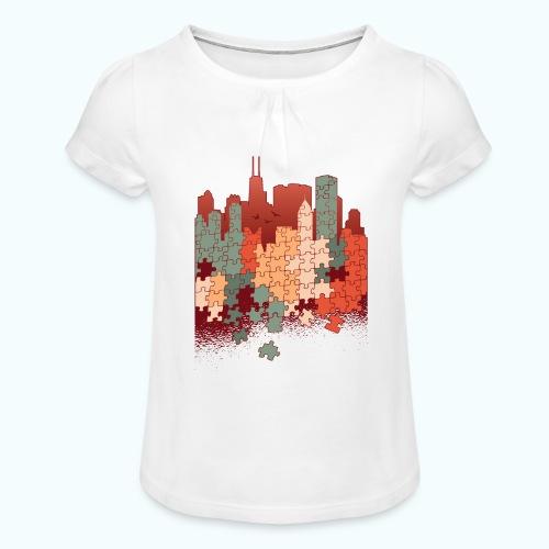 Puzzle fan - Girl's T-Shirt with Ruffles