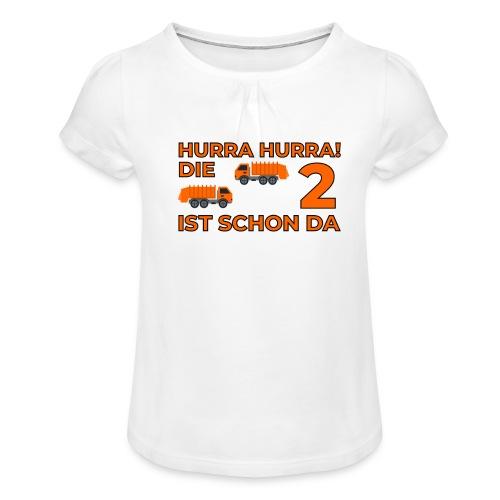 Drugie urodziny Śmieciarka - Koszulka dziewczęca z marszczeniami