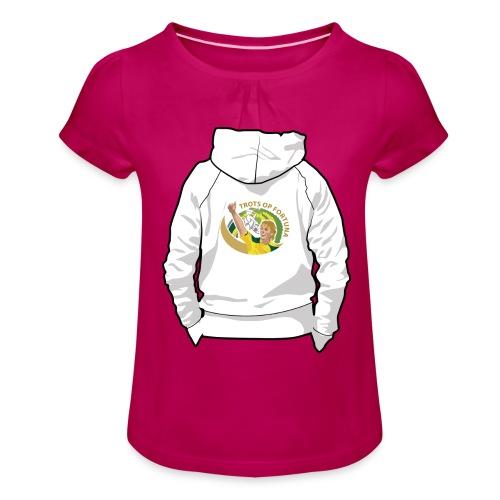 hoodyback - Meisjes-T-shirt met plooien
